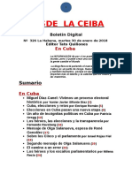 Desde La Ceiba Nº 326 (en Cuba)