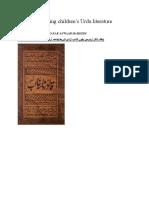 Juvenile Literature in Urdu and English by Prof Dr Syed Mujeeb Zafar Anwaar Hameedi Ph.d Children Literature
