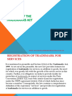 Features of the Trademarks Act