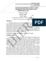 STUDY OF PROCESS PARAMETERS IN STIR CASTING METHOD FOR PRODUCTION OF PARTICULATE COMPOSITE PLATE