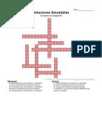 Crucigrama Relacion Saludable Equipo 5 Ing. Industrial Semestre 3 Grupo 3