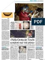 Nella Grotta dei teschi scorpioni mai visti prima - Il Resto del Carlino del 20 settembre 2018