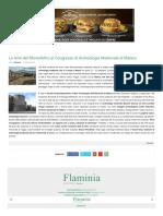 Le Terre del Montefeltro al Congresso di Archeologia Medievale di Matera - Flaminia  e dintorni del 20 settembre 2018