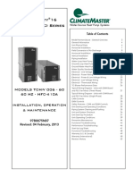 Climate Master Tranquility TCV Series MANUAL