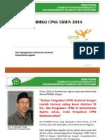 Kemenag - Alokasi Formasi CPNS Tahun 2018