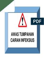 Tanda Tumpahan c.infeksius