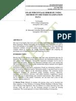 COMPARISION OF PERCENTAGE ERROR BY USING IMPUTATION METHOD ON MID TERM EXAMINATION DATA