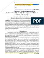 Discretion Dilemma of Street-Level Bureaucracy in Implementation of the Street Vendors Empowerment Policy in Makassar City, Indonesia