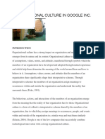 Organizational Culture Case Study Google Inc