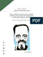Rilke_ El Arte Era Vivir