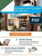 BERKUALITAS, Jasa Bangun Rumah Surabaya, 0822 9000 9990