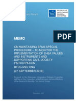 BIBC and EaP CSF Belarusian National Platform Ad Hoc Committee Memo on Maintaining BFUG Special Procedure – to Monitor the Implementation of EHEA Values and Instruments and Supporting Civil Society Participation