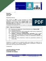 GBS Factura Electrónica Modelo de Cotización