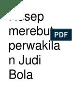 Resep Merebut Perwakilan Judi Bola Makbul DiIndonesia