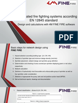 Fully calculated firefighting systems with EN 12845 standard | Fire