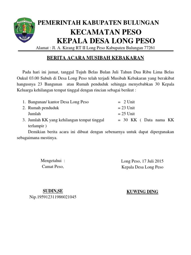 Kecamatan Peso Kepala Desa Long Peso Pemerintah Kabupaten Bulungan