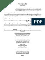 Anunciação - Melodia e Texto