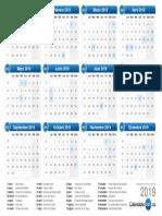 Calendario 2019 España