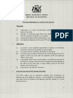 Proposed amendments to the electoral system
