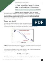 Using the Power Law Model to Quantify Shear Thinning Behavior on a Rotational Rheometer