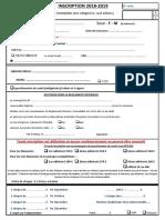 Fiche Inscription ESM 2018 2019
