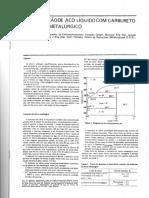 Desoxidação de Aço Líquido Com Carbureto de Silício Metalúrgico