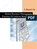 HRM Practices of Unilever Bangladesh