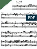 Bach Wtc Fuga 8 3 Voci Anhang