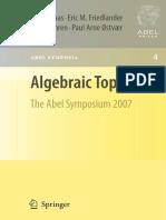 Algebraic Topology- The Abel Symposium 2007 [ Nils Baas, Eric Friedlander, Björn Jahren, Paul Arne Østvær]