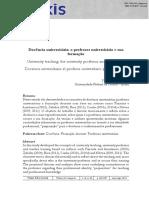 Docência universitária- o professor universitário e sua formação.pdf