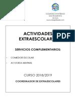 Dossier Extraescolares 2018-2019