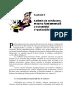 5.Cadrele de Conduce Re, Resursa Fundamental A a Succesului Organizatiilor