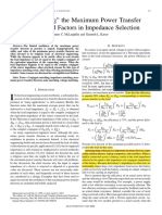 """""""Deglorifying"""" the Maximum Power Transfer Theorem and Factors in Impedance Selection"""