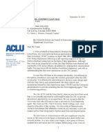 ACLU Letter to Colorado State University Regarding the Gray Brothers