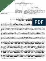 School of Violin Technique Op.1 Book1 for Violin