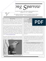 Fall 2008 Song Sparrow Newsletter, Napa-Solano Audubon Society