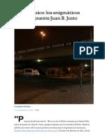 Adiós a Un Clásico_ Los Enigmáticos Mensajes Del Puente Juan B. Justo - LA NACION