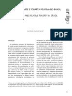 Divisões de Classe e Pobreza Relativa No Brasil