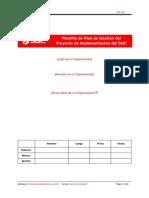 Plantilla Plan de Proyecto ISO 9001