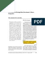 Determinants of FDI