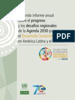 Segundo Informe Anual Sobre El Progreso y Los Desafíos Regionales de La Agenda 2030 Para El Desarrollo Sostenible en América Latina y El Caribe