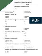 Formativa Matematica 5to Basico - Fracciones y Calculo de Areas