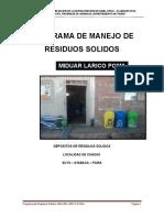 Programa de Residuos Solidos