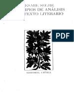Principios de Analisis Del Texto Literario