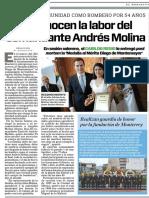 21-09-18 Reconocen la labor del  comandante Andrés Molina
