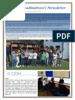 Newsletter No 49 - 21st September 2018