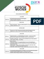 Deutsche Wochen - Semanas Alemanas - Prog