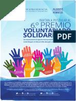 6to. Premio Voluntariado Solidario 2018