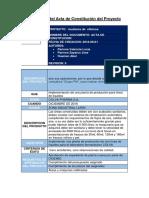TAREA 1.-Desarrollo Del Acta de Constitución Del Proyecto