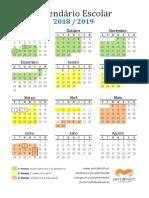 Calendario Escolar 2018 19